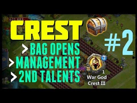 Castle Clash: Crest Management + Second Talents - Part 2 Of 3