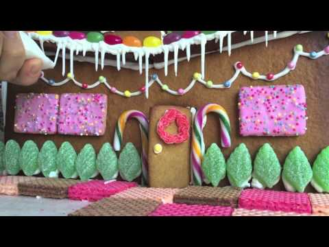 Mid Century Gingerbread House and How to Make Icicles - YouTube
