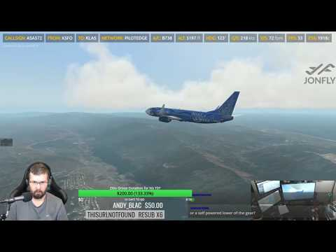 Pilotedge KSFO Emergency! Landing gear failure! Zibo 737 X-Plane 11