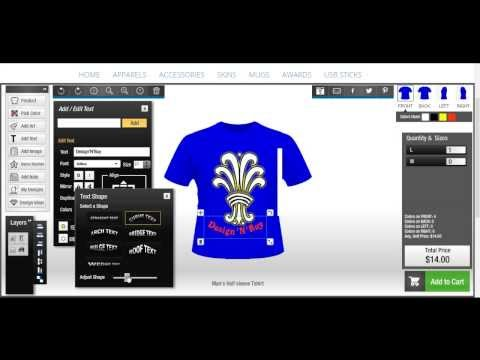 T-Shirt Design Software (All-in-one Product Designer)