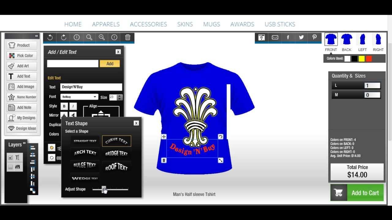 TShirt Design Software Allinone Product Designer