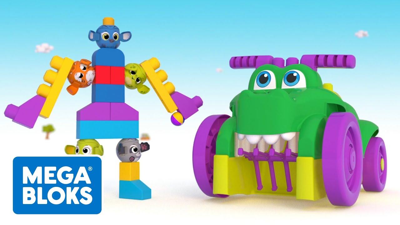 Mega Bloks™ - Peek A Blocks™ Build A Robot | Cartoons For Kids | Fisher-Price | Learning For Kids