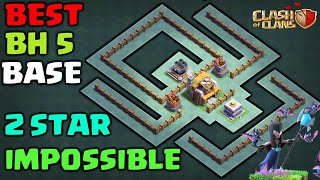 ⚔BH5 Base Builder Hall 5  ⚔IMPOSSIBLE 2 STAR With Replay Anti Giant Anti Barcher Anti Air Troops