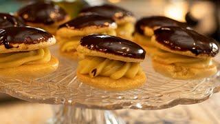 Kokakia: Greek Cream Filled Sponge Cakes