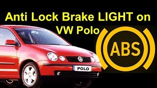 VW Polo ABS Light ON / Skoda Fabia ABS Light On Easy Fix