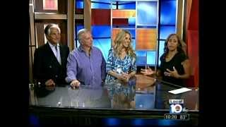 John Giordano George Hamilton and Alana Stewart on Local 10 WPLJ News