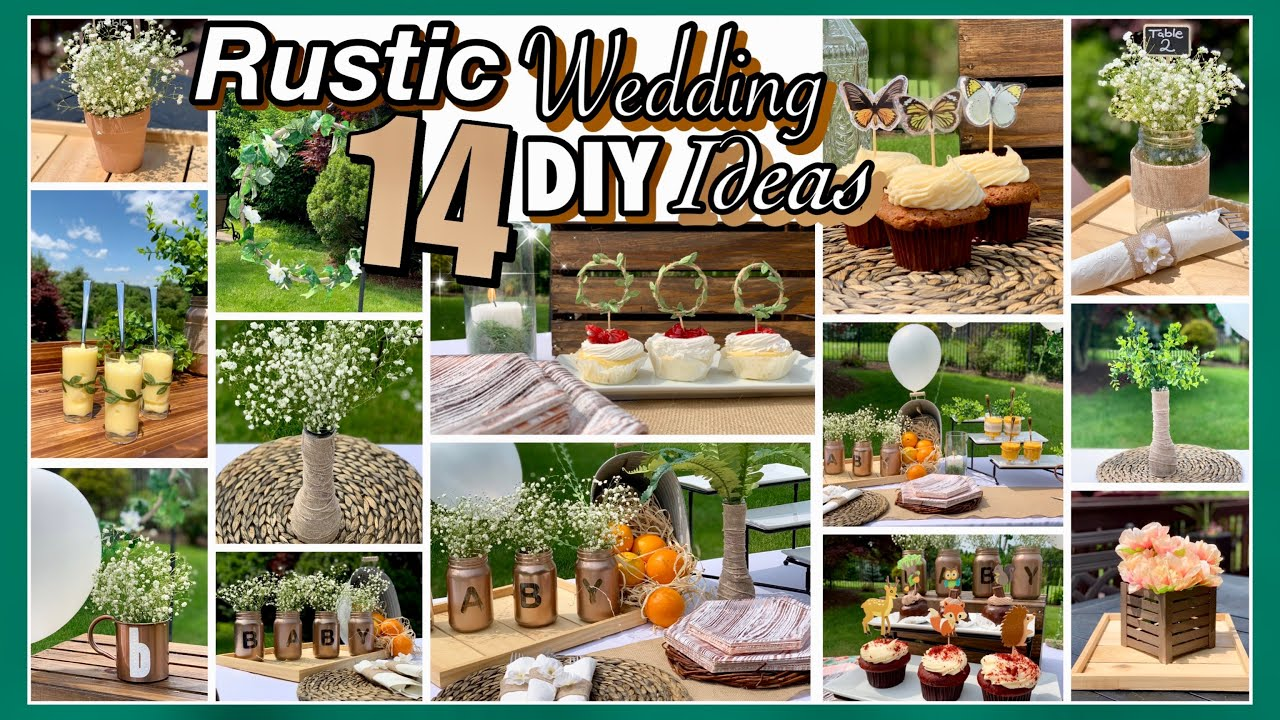 Outdoor Country Wedding Shower Ideas: Outdoor RUSTIC Wedding Baby Shower DIY DECOR Ideas