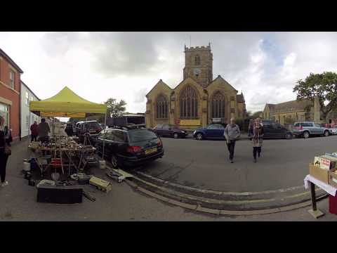 Bridport Market in Dorset #VR 360 #Video #Timelapse