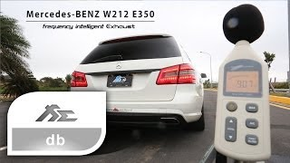 fi exhaust mercedes benz w212 e350 valve db test