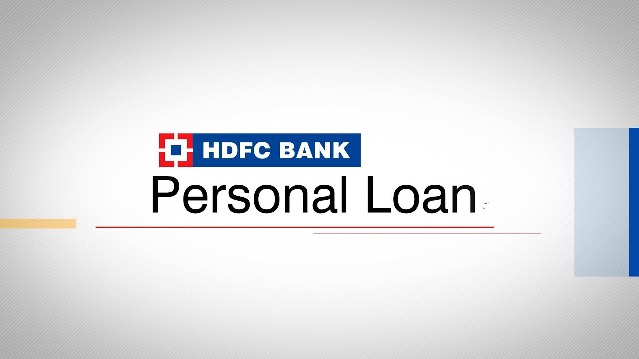 How to Apply for a HDFC Bank Personal Loan on BankBazaar.com - YouTube
