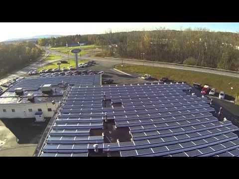Monolith Solar solar panel installation at Jack Byrne Ford/Mercury, Mechanicville, NY