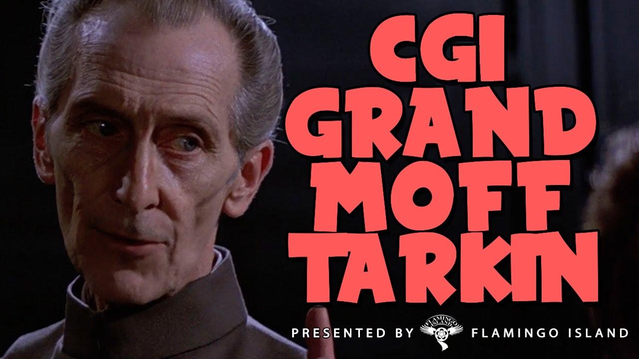 CGI GRAND MOFF TARKIN Rogue One A Star Wars Story YouTube - Scenes original star wars created cgi