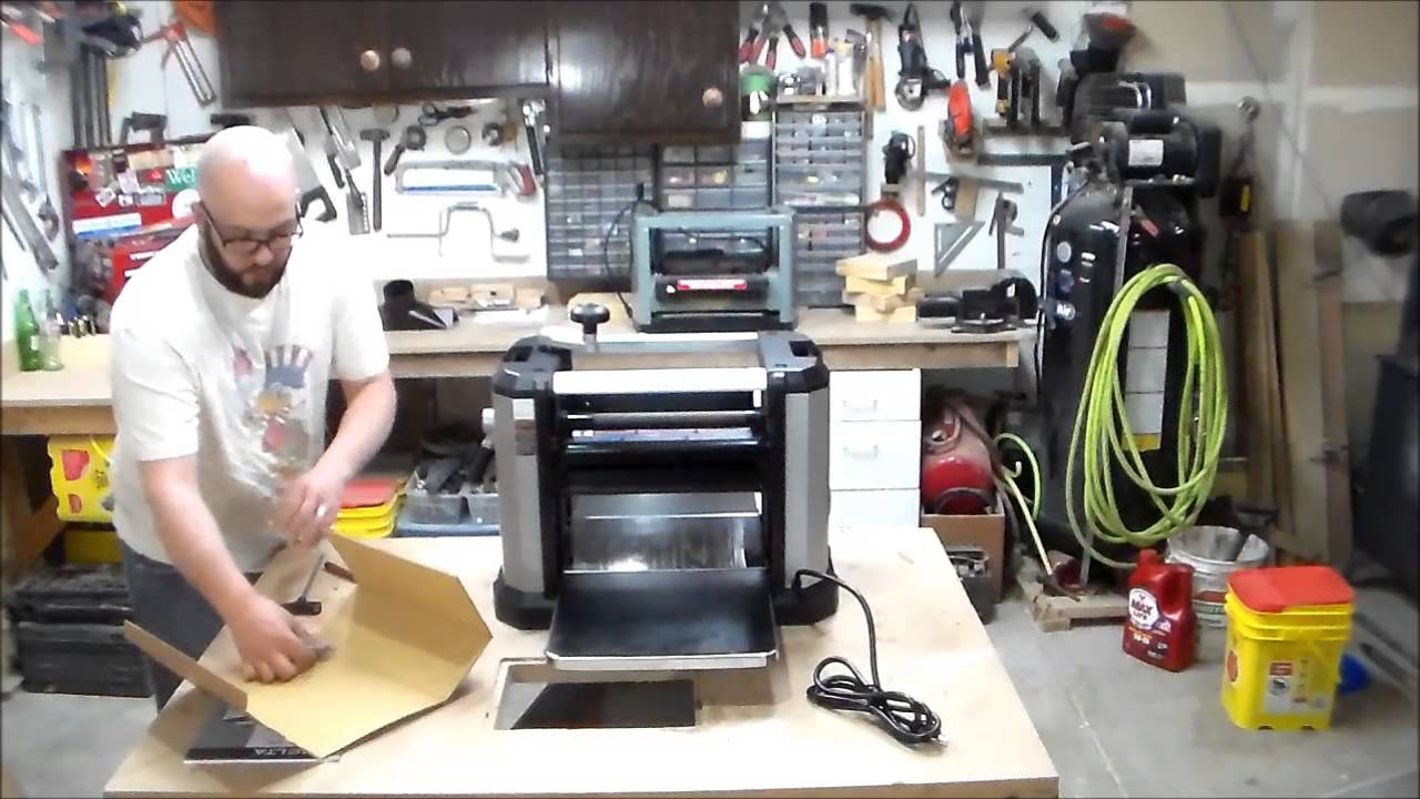 Delta 22 590 Planer Unboxing And Trial Use Youtube