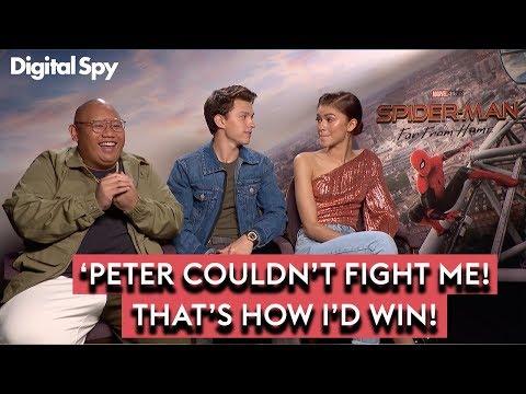 Spider-Man: Far From Home | Tom Holland, Zendaya \u0026 Jacob Batalon Discuss Ned's EVIL TURN
