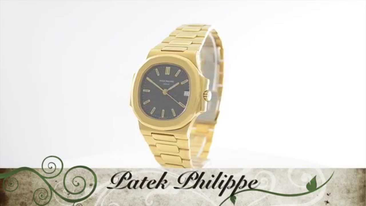 79d5f556eee Patek Philippe Nautilus Ref. 3800 1 18k yellow gold - YouTube