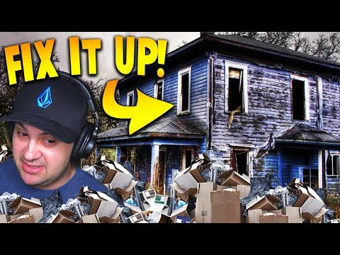 DEMOLISHING GROSS HOUSES AND FIXING THEM UP! | House Flipper Beta Gameplay