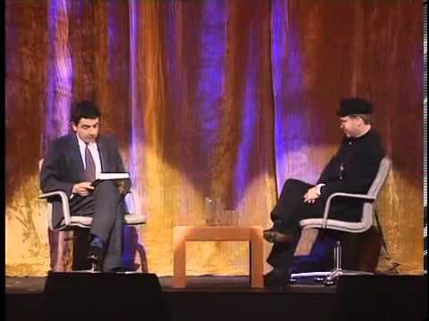 Rowan Atkinson interviewing Elton John
