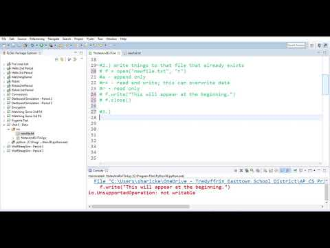 Reading, Writing And Appending To A Text File In Python