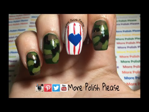 Memorial day nail art design youtube prinsesfo Choice Image