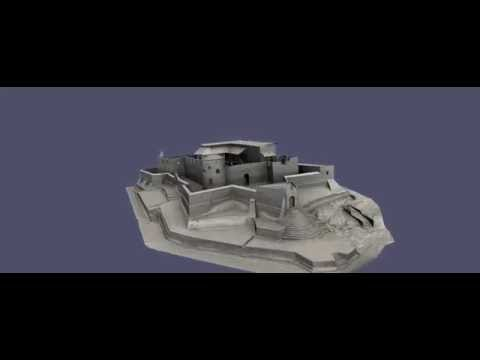 Animation of the 3D Model of Fort St Sebastian  in Shama, Ghana.