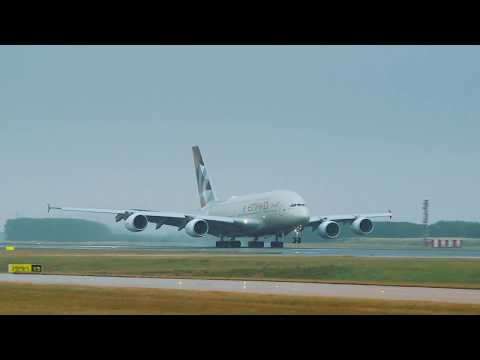 A380 landing in Paris Charles De Gaulle | Etihad Airways