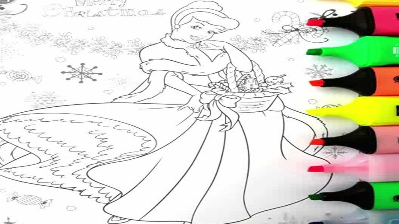 Disney Book Princess Cinderella Merry Christmas Coloring ...