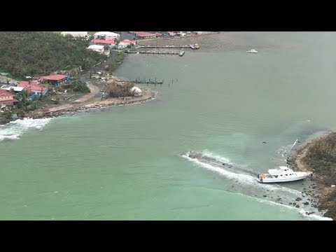 USCG Helicopter Video of St. Thomas after Hurricane Irma