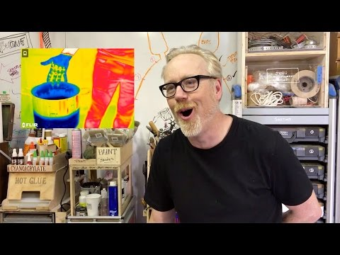 Adam Savage has fun with a FLIR Thermal Imaging Camera!