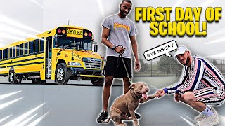 Nipsey's First Day of School 🐕🏫