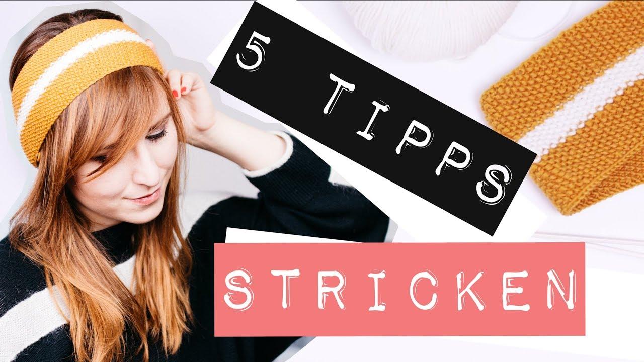 5 Tipps für Strickanfänger - Stirnband im Perlmuster stricken - YouTube