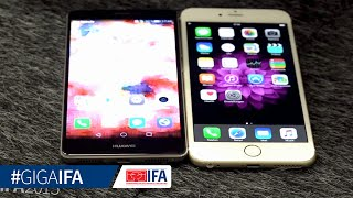 Huawei Mate S vs. iPhone 6 Plus - Hands-On - GIGA.DE