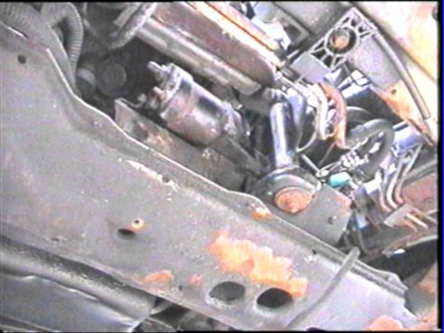 Replacing starter 95 Buick Park Avenue 3800 Engine - YouTube   1998 Buick Century Engine Diagram Starter      YouTube