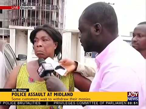 Police Assault at Midland  AM Show on JoyNews 23718