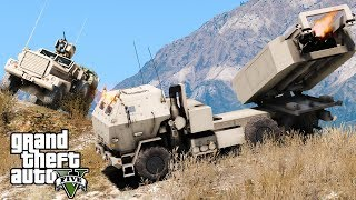 GTA 5 Military Patrol | US Marine Corps M142 HIMARS Artillery Unit Striking Enemy Base With Missiles thumbnail