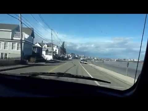 Driving around York Beach, Maine