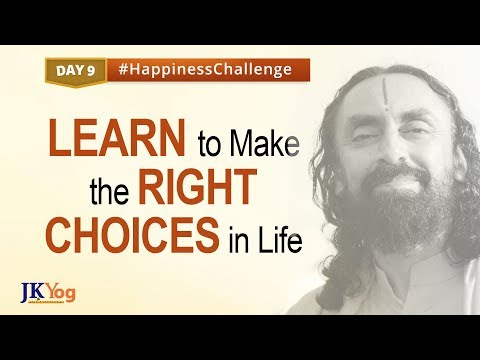 Make Right Choices in Life   Happiness Challenge   Day 9   Swami Mukundananda