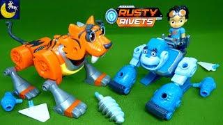 Rusty Rivets Toys NEW Tiger Bot Gorilla Robot Botarilla STEM Engineering Build Me Kids Toy Videos