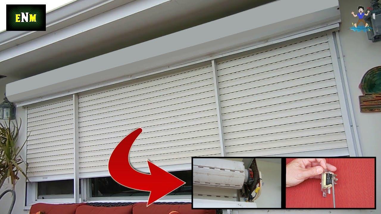 Roll Up Hurricane Storm Shutter Repair Rolladen Youtube
