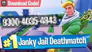 Janky Jail Deathmatch (w/ Download Code!) - Fortnite Creative Map