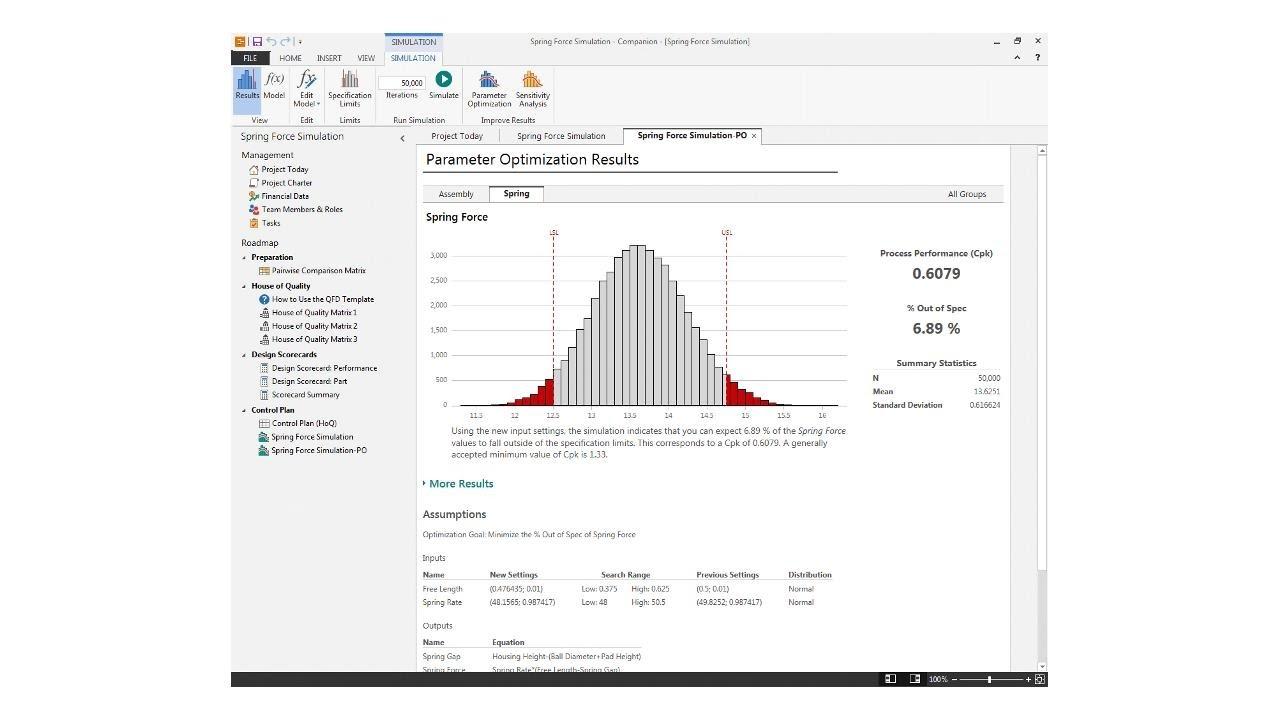 running a monte carlo simulation companion by minitab youtube