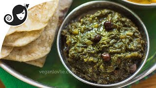 Stewed Taro Leaves - Mauritian Recipe - Brede Songe Touffé | Vegan/Vegetarian Recipe