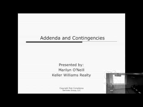 Risk Management Class: Contingencies in the Contract