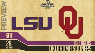 LSU vs Oklahoma - College Football Playoffs - Preview & Prediction Tigers vs Sooners
