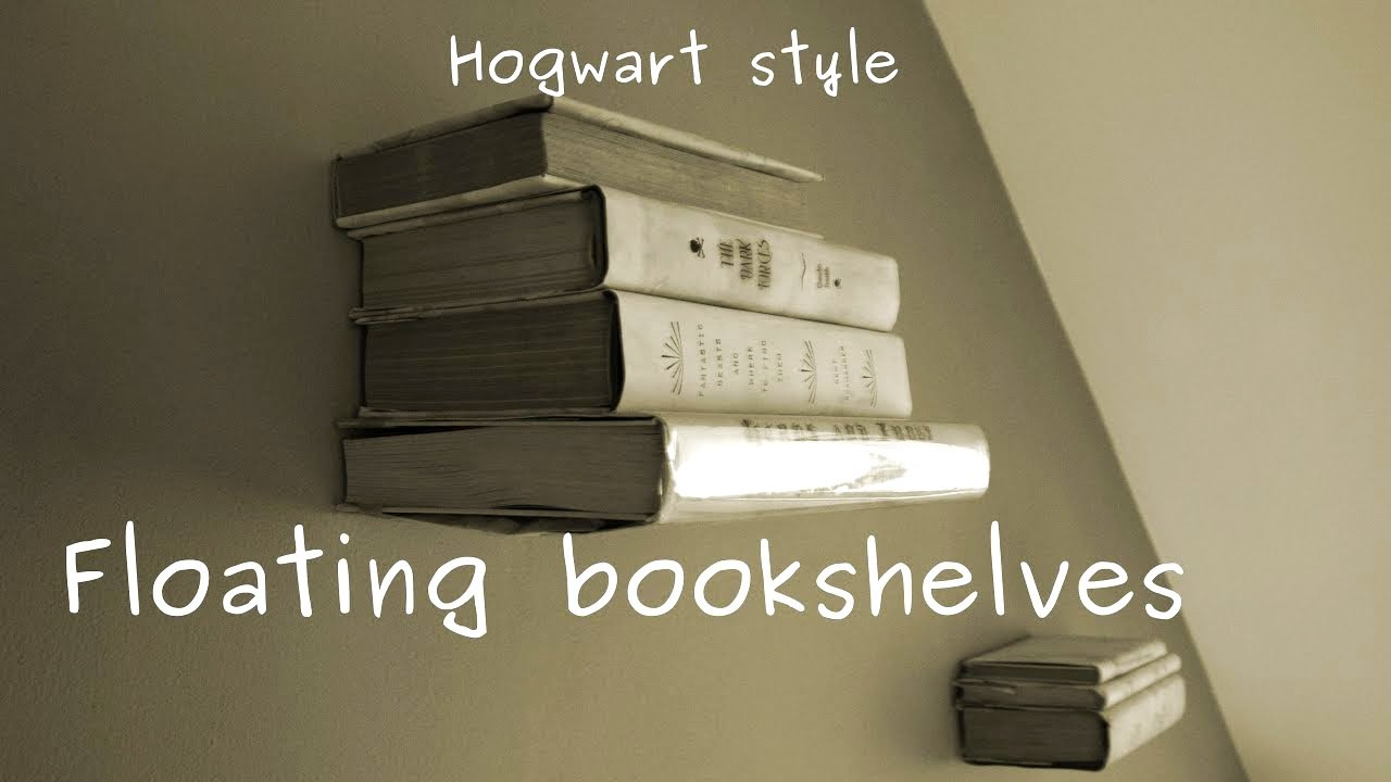 how to make levitating invisible bookshelf on the wall easy diy project - Invisible Bookshelves