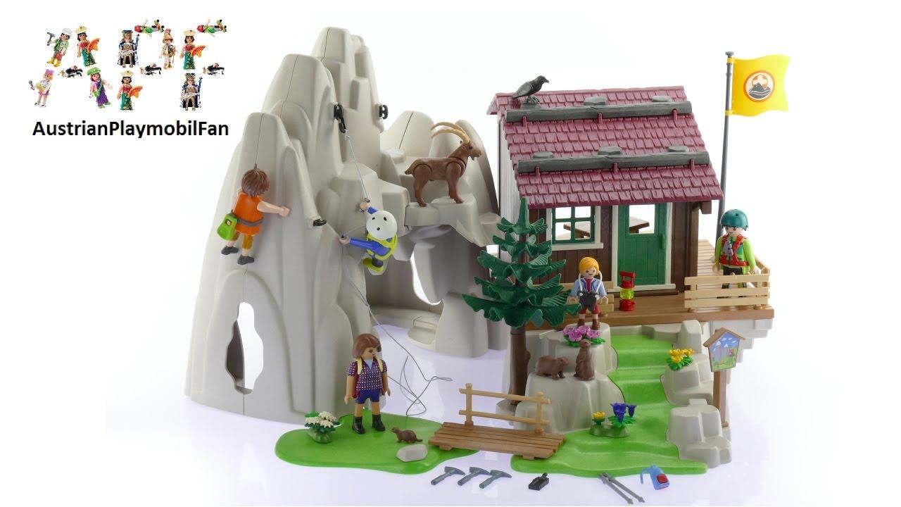 playmobil action 9126 kletterfels mit bergh u00fctte