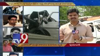 Nishith Narayana death: Visuals of damaged Car - TV9 Exclusive