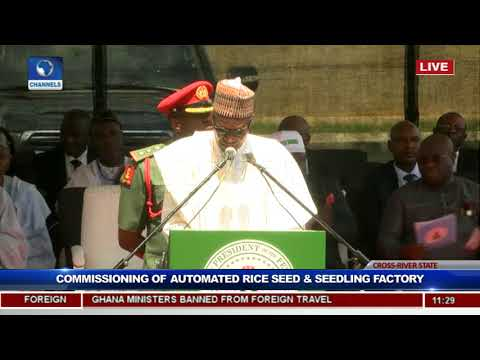 President Buhari Commissions Rice Seedling Factory In Calabar Pt.4
