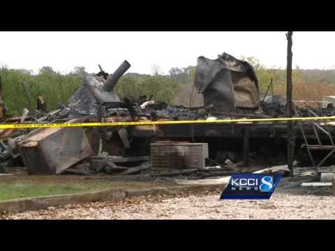 Volunteer firefighter battles blaze at own home