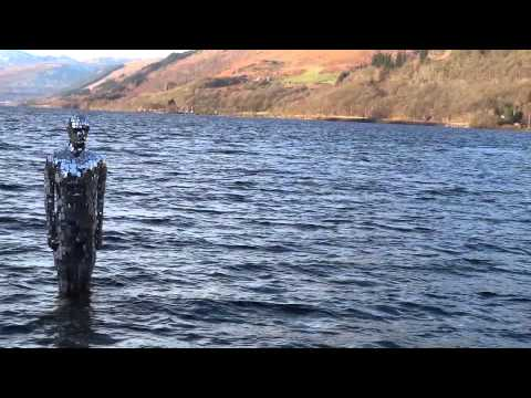 Mirrored Statue Loch Earn St Fillans Perthshire Scotland
