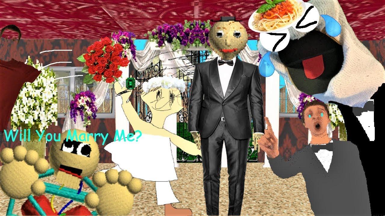 Playtime Is A Flower Girl Baldi S Basics Mod Baldi S Wedding